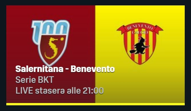 Salernitana-Benevento Streaming Gratis Diretta Link Online Live DAZN