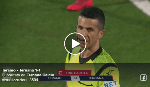 Highlights Teramo-Ternana 1-1: Video Gol e Sintesi (Serie C 2019-20)