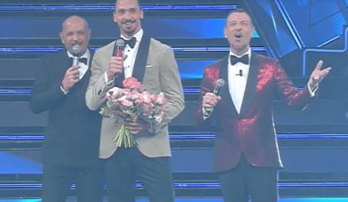 Ibrahimovic e Mihajlovic a Sanremo cantano Io Vagabondo (Video)