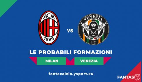 Milan-Venezia: Probabili Formazioni Fantacalcio e Pronostico (Serie A 2021-22)