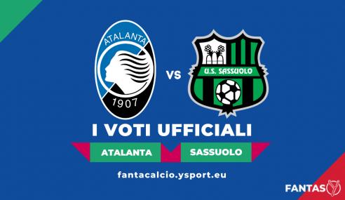 Voti Atalanta-Sassuolo 2-1: Pagelle Ufficiali Fantacalcio (5ª Giornata Serie A 2021-22)