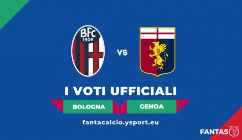 Voti Bologna-Genoa 2-2: Pagelle Ufficiali Fantacalcio (5ª Giornata Serie A 2021-22)