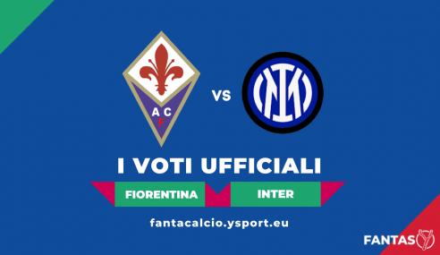 Voti Fiorentina-Inter 1-3: Pagelle Ufficiali Fantacalcio (5ª Giornata Serie A 2021-22)