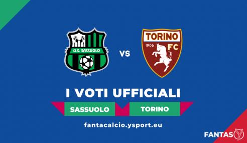Voti Sassuolo-Torino 0-1: Pagelle Ufficiali Fantacalcio (4ª Giornata Serie A 2021-22)